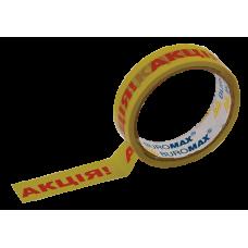 Клейкая лента канцелярская, 24 мм х 30 м, желтая с нанесением