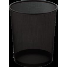 Корзина для бумаг, 19 л., круглая, металлическая, черная