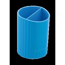Стакан для письменных принадлежностей SFERIK, круглый, на 2 отделения, синий