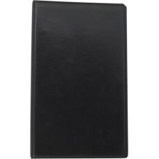 Визитница виниловая на 200 визиток, черная