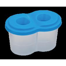 Стакан-непроливайка с двумя отделениями, синяя