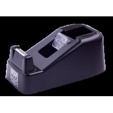 Диспенсер для канцелярского скотча (ширина до 18 мм), 122x60x50 мм, пластиковый, черный