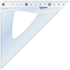 Угольник ESSENTIALS, 45гр/210мм (гипотенуза) пластик, прозрачний