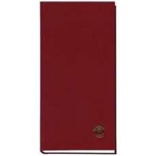 Книга алфавитная, А6, 80 листов, бордо
