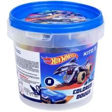 Цветное тесто для лепки Kite Hot Wheels HW21-137, 8*20г+2 формочки+стек