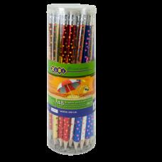 Карандаш графитовый STARS, HB, с ластиком, 48 шт. в тубе, KIDS Line