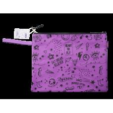 Папка А4 SCHOOL, 33x25x1 см, коттон и полиэстер, фиолетовая