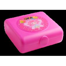 Контейнер для еды, 138х147х55мм, розовый, KIDS Line