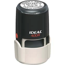 Оснастка пластиковая для круглой печати d40мм с футляром