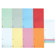 Индекс-разделитель 105х230 мм, 100шт., картон, ассорти