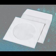Конверт для CD (124х124мм) белый НК с окном (термоупаковка)