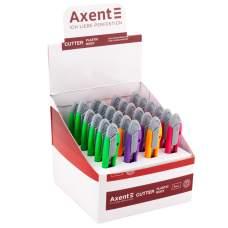 Нож канцелярский Axent 6401-A, лезвие 9 мм, ассортимент цветов