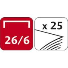 Степлер START, металлический, 25л., (скобы №24/6, 26/6), серый