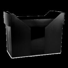 Картотека для подвесных файлов, пластик, черная