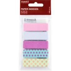 Закладки бумажные Axent Dots 2490-01-A, 5х12х50 мм, 100 штук, ассорти