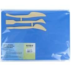 Набор для лепки Kite K17-1140-02 (доска + 3 стека), синий