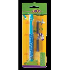 Ручка перьевая с открытым пером + 2 капсулы, голубой корпус, блистер, KIDS Line