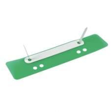 Минискоросшиватель, до 150 л., зеленый, 25 шт. в уп-ке