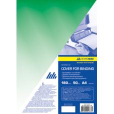 Обложка для переплета, А4, пластик 180 мкм, зеленая, по 50 шт. в упаковке