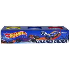 Цветное тесто для лепки Kite Hot Wheels HW21-151, 3*75 г