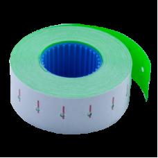 Ценник 22x12 мм (1000 шт, 12 м), прямоугольный, внутренняя намотка, зеленый