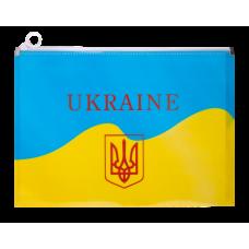 Папка на ZIP А4, UKRAINE, ARABESKI, желтая