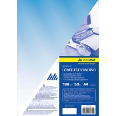 Обложка для переплета, А4, пластик 180 мкм, синяя, по 50 шт. в упаковке