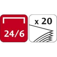 Степлер ESSENTIALS METAL, металлический, 25л., (скобы №24/6, 26/6), черный