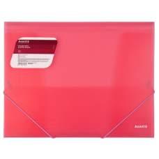 Папка на резинках Axent 1501-24-A, А4, прозрачный красный