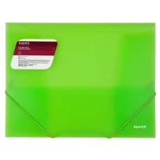 Папка на резинках Axent 1501-26-A, А4, прозрачный зеленый
