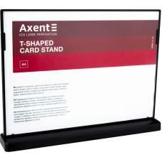 Табличка информационная Axent 6265-01-A, A4, горизонтальная, черная
