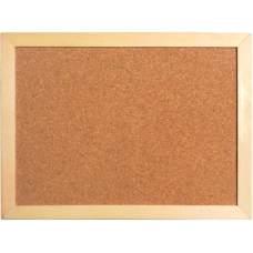 Доска корковая Axent 9601-A 45х60 см, деревянная рамка