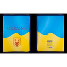 Папка на молнии A4, UKRAINE, ARABESKI, желтая