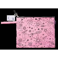 Папка А4 SCHOOL, 33x25x1 см, коттон и полиэстер, розовая