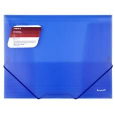 Папка на резинках Axent 1501-22-A, А4, прозрачный синий