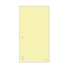 Индекс-разделитель 105х230 мм, 100шт., картон, желтый