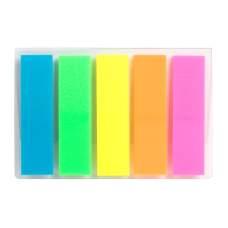Закладки пластиковые Axent Delta D2450-01, 12х45 мм, 125 штук, неоновые цвета