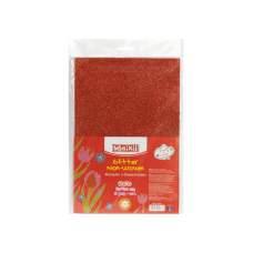 Флизелин с блестками, 20х30 см, 220±10 г/м 2, красный