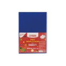 Фетр листовой (полиэстер) на клейкой основе, 20х30см, 180г/м2, синий