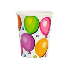 Набор из 6 стаканов бумажных Balloons, 270 мл