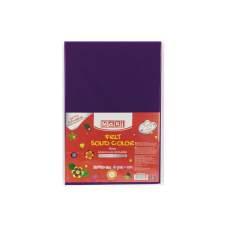 Фетр листовой (полиэстер) на клейкой основе, 20х30см, 180г/м2, фиолетовый