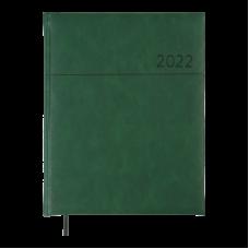 Еженедельник датир. 2022 ORION, A4, зеленый, иск.кожа/поролон
