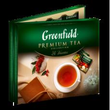 Набор пакетированого чая ассорти. 24 сорта по 4шт, 96 пакетиков, GREENFIELD